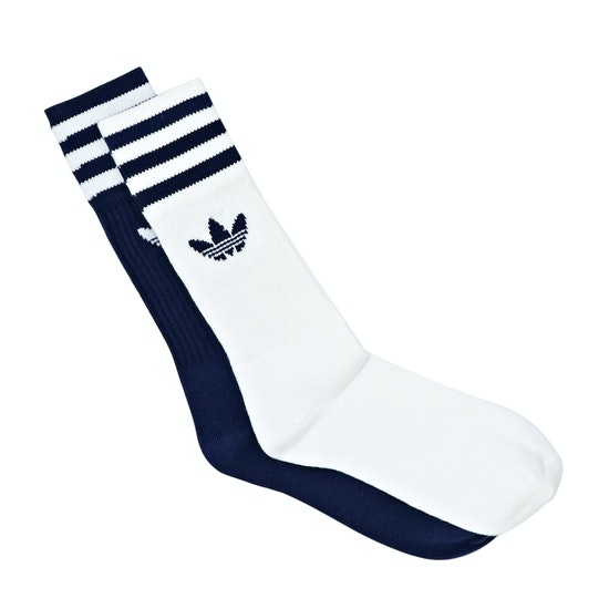 Adidas Originals Solid Crew 2pack Fashion Socks