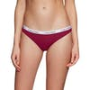 Calvin Klein 3 Pack Bikini Womens Brief - Ember Blaze Black Stripe