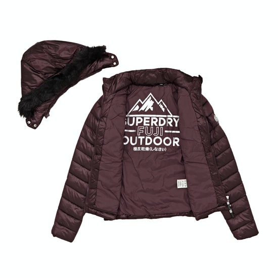 Superdry Hooded Luxe Chevron Fuji Dames Jas