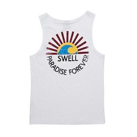 SWELL DAYBREAK SINGLET Boys Tank Vest - WHITE