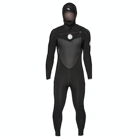 Rip Curl Flashbomb 5/4mm Chest Zip Hooded Wetsuit - Black