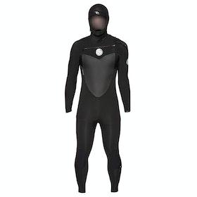 Combinaison de Surf Rip Curl Flashbomb 5/4mm Chest Zip Hooded - Black