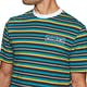 Welcome Surf Stripe Embroidered Knit Short Sleeve T-Shirt