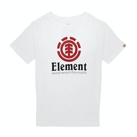Element Vertical Boys Short Sleeve T-Shirt - Optic White