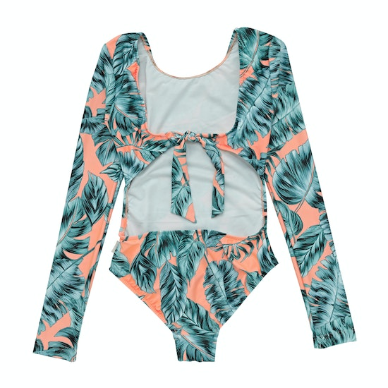 Seafolly Native Jungle LS Cut Out Surf Tank Girls Swimsuit