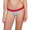 Calvin Klein Modern Cotton Bikini Knickers - Grey Heather W/ Manic Red