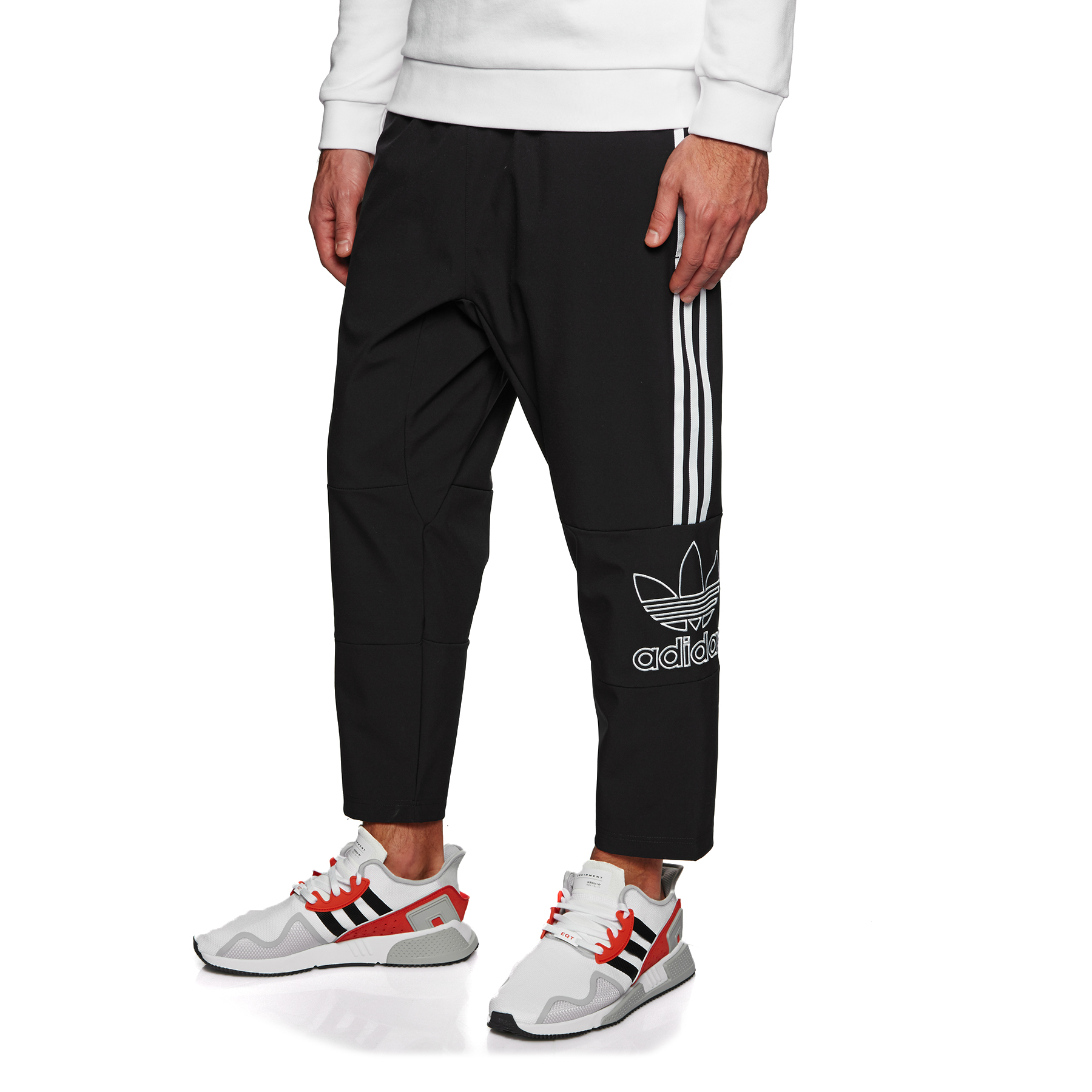 Details about Adidas Originals Adidas Superstar Cuffed Track Pants in Red bottoms tracksuit