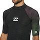 Billabong Contrast Short Sleeve Printed Rash Vest