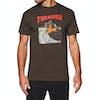 Thrasher Neckface Invert Short Sleeve T-Shirt - Brown