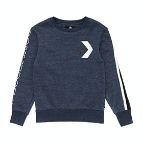 Converse Striped Wordmark Kids Fleece - Obsidian Heather