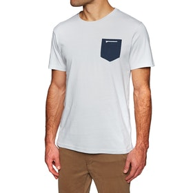 Surf Perimeters Organic Casual In The Pocket Print Short Sleeve T-Shirt - Glacier Grey