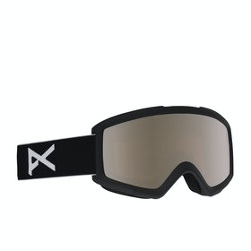 Anon Helix 2.0 w Spare Lens Snow Goggles - Black ~ Silver Amber