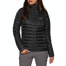 Rab Microlight Alpine Womens Down Jacket - Black Seaglass