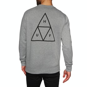 Sweat Huf Essentials Triple Triangle Crew - Grey