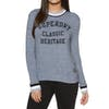 Superdry American Girl Applique Top Womens Sweater - Blue Grey