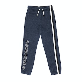 Converse Striped Wordmark Fleece Kids Jogging Pants - Obsidian Heather