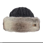 Barts Fur Cable Band Dames Beanie