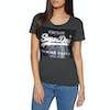 Superdry Premium Sequin Slim Boyfriend Dames T-Shirt Korte Mouwen - Charcoal Marl