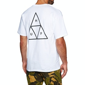 T-Shirt à Manche Courte Huf Essentials Triple Triangle - White