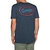 T-Shirt à Manche Courte Quiksilver Live On The Edge - Blue Nights