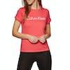 Calvin Klein Cotton Coord Crew Neck Kurzarm-T-Shirt - Pink Mango