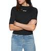 T-Shirt à Manche Courte Levis Rib Slim - Cropped Rib Logo Mineral Black Ground