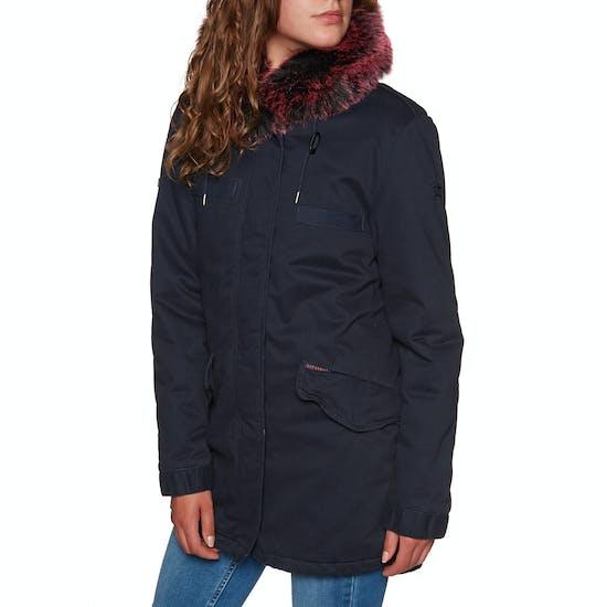 Superdry Hawk Coloured Faux Fur Parka Womens Jacket