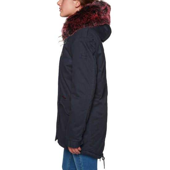 Superdry Hawk Coloured Faux Fur Parka Womens Jacket