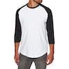 Element Basic Raglan Quarter Long Sleeve T-Shirt - Optic White