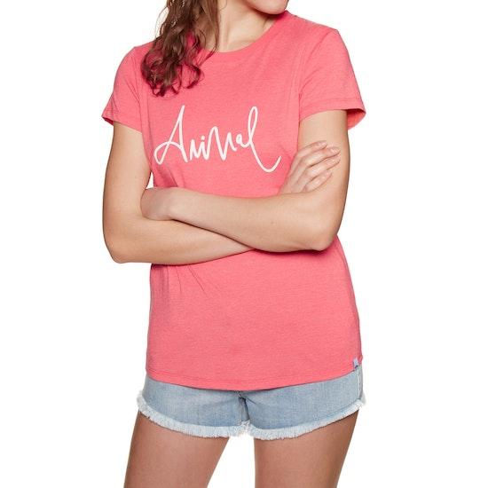 T-Shirt de Manga Curta Senhora Animal Reel Me In