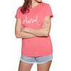 Animal Reel Me In Womens Short Sleeve T-Shirt - Calypso Coral Red Marl