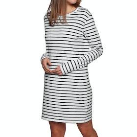 SWELL Basic Long Sleeve Dress - Black White Stripe