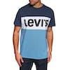 Levi's Colourblock Short Sleeve T-Shirt - Colorbock Dress Blues White Parisian