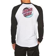Santa Cruz Wave Dot Baseball Long Sleeve T-Shirt