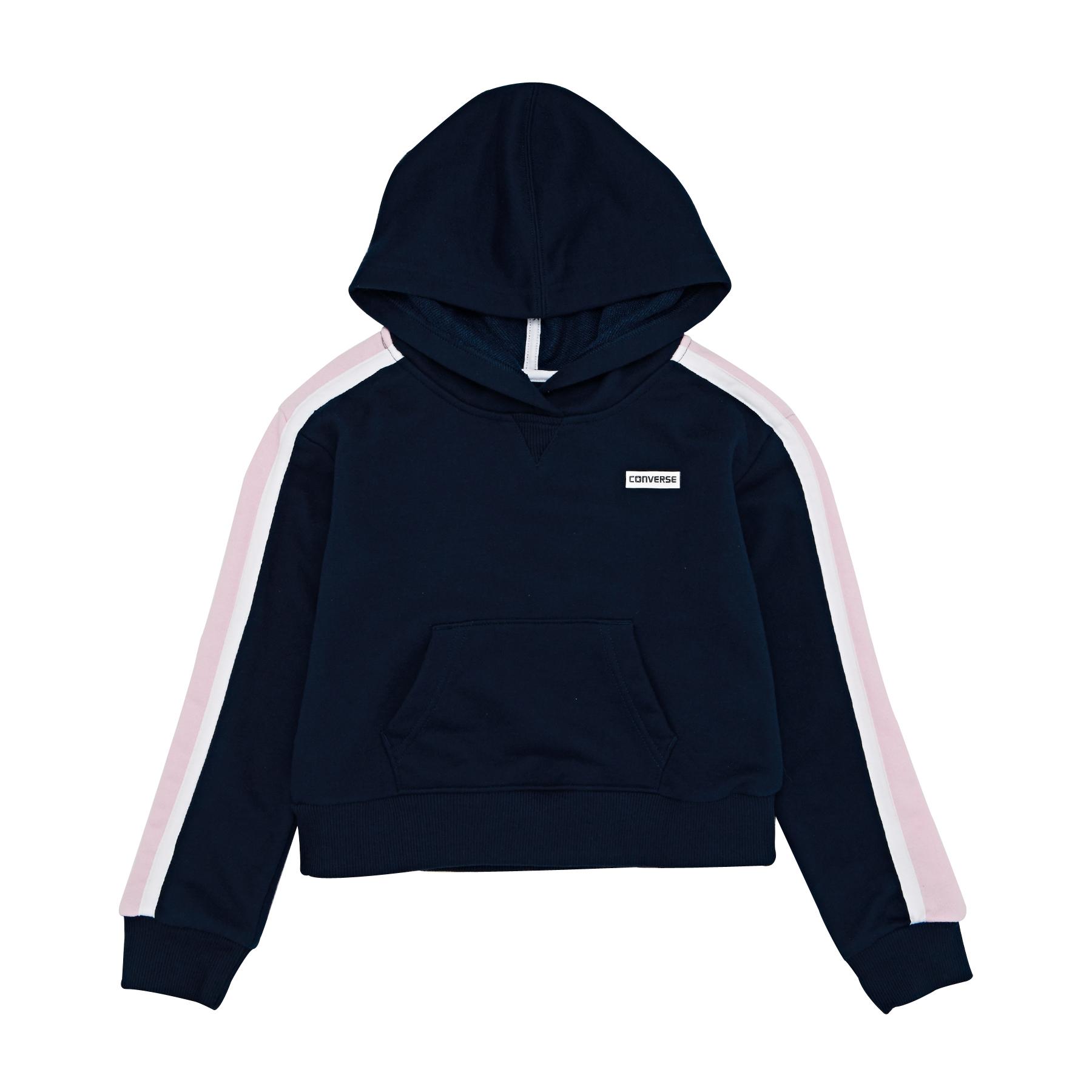 NEW Balance Essentials Stacked Logo Hoodie White ex con cappuccio Pullover Bianco