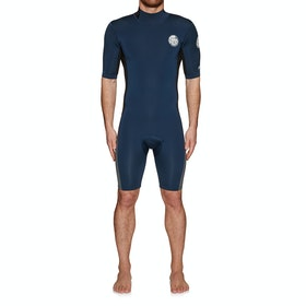 Rip Curl Aggrolite 2mm Back Zip Shorty Wetsuit - Navy Black