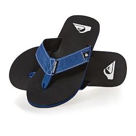 Quiksilver Molokai Abyss Sandals - Blue Black Blue