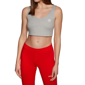 Adidas Originals Sc Cropped Sports Bra - Medium Grey Heather