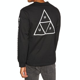 T-Shirt à Manche Longue Huf Essentials Triple Triangle - Black