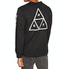 Huf Essentials Triple Triangle Long Sleeve T-Shirt - Black