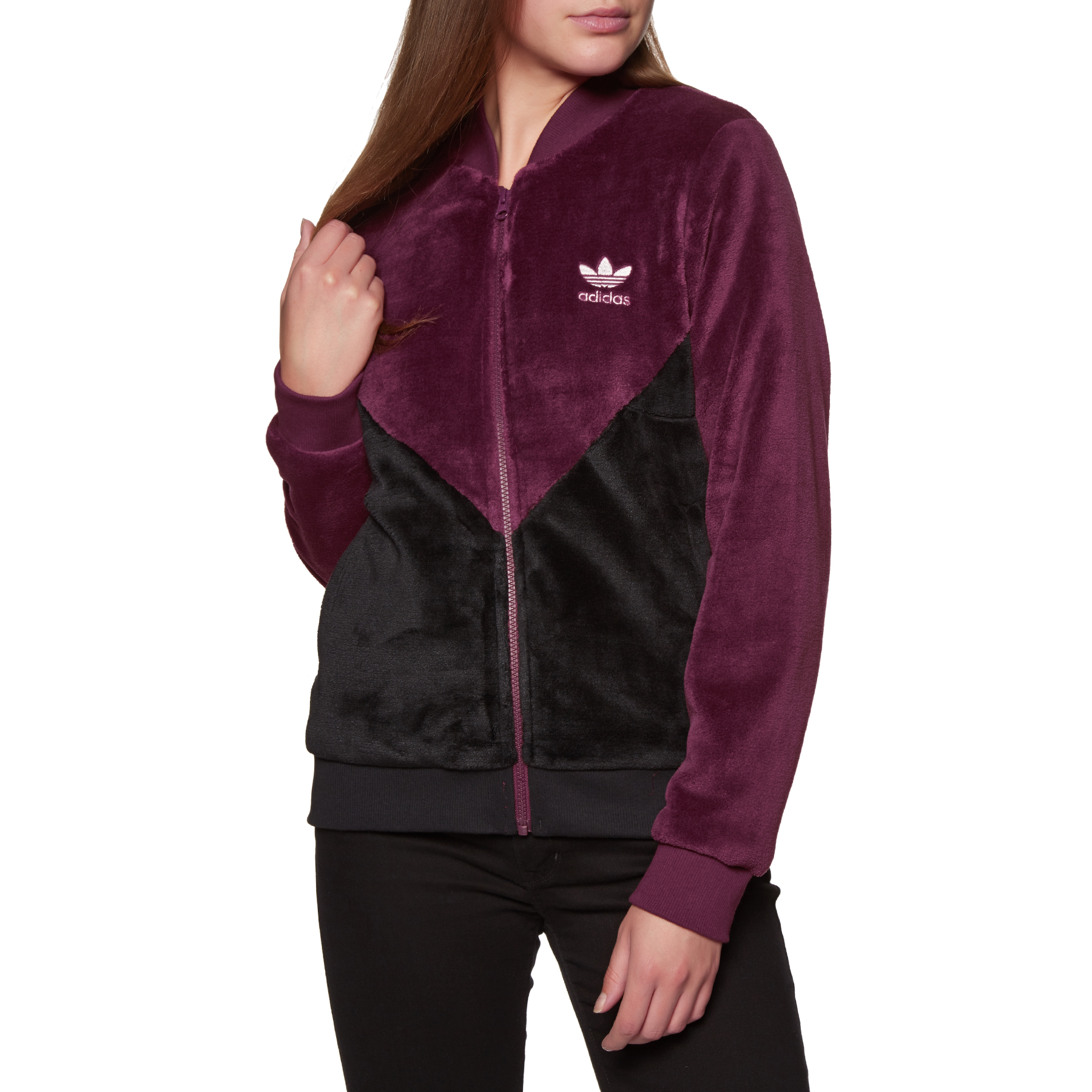 adidas originals clrdo fleece zip-front track jacket