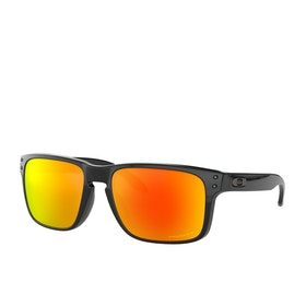 Oakley Holbrook Sunglasses - Polished Black~prizm Ruby Polarized