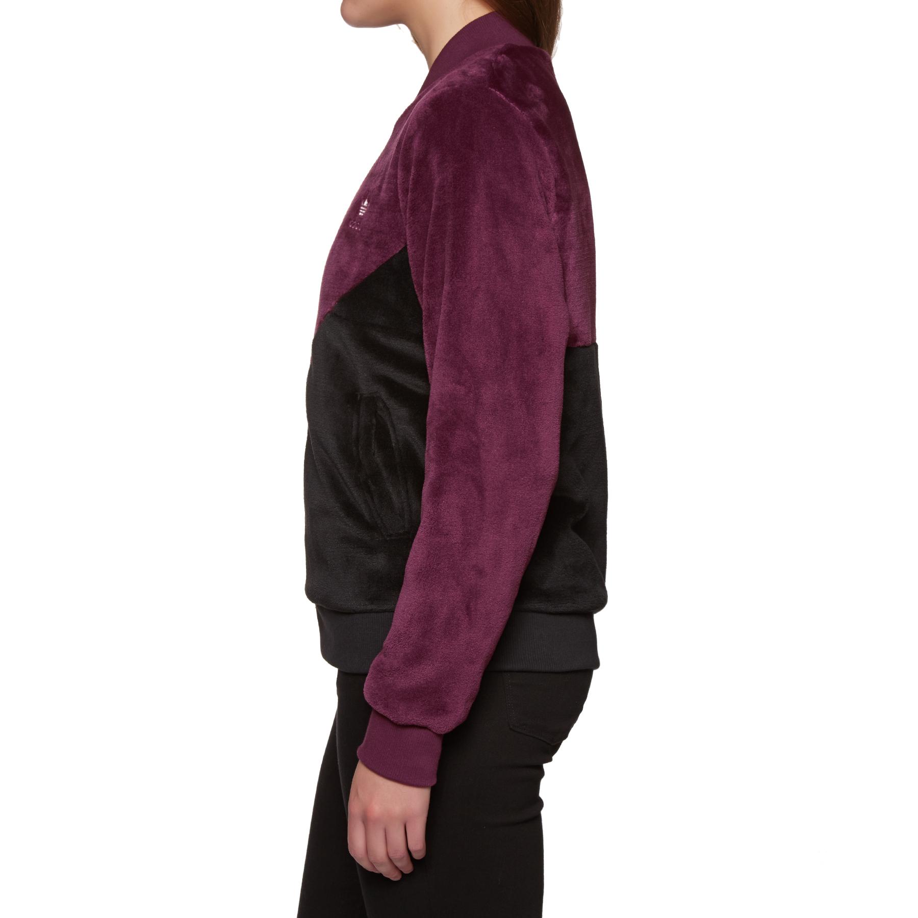 adidas originals clrdo fleece zip-front track jacket
