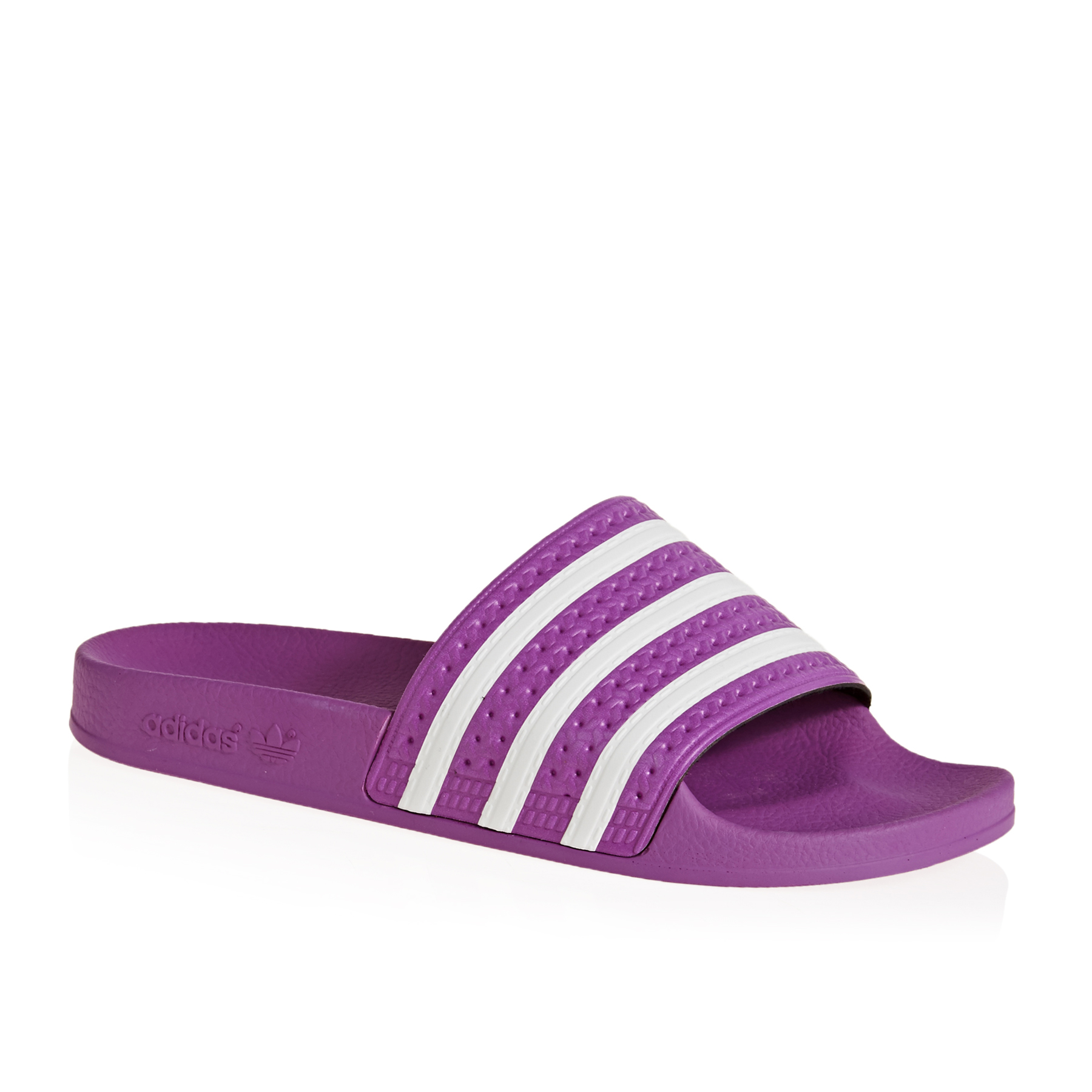 Adidas Women's Adilette Slides in Vivid Pink Cloud White