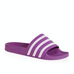 Adidas Originals Adilette Womens Sliders - Vivid Pink White