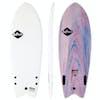 Softech Rocket Fish FCS II Twin Surfboard - White Marble