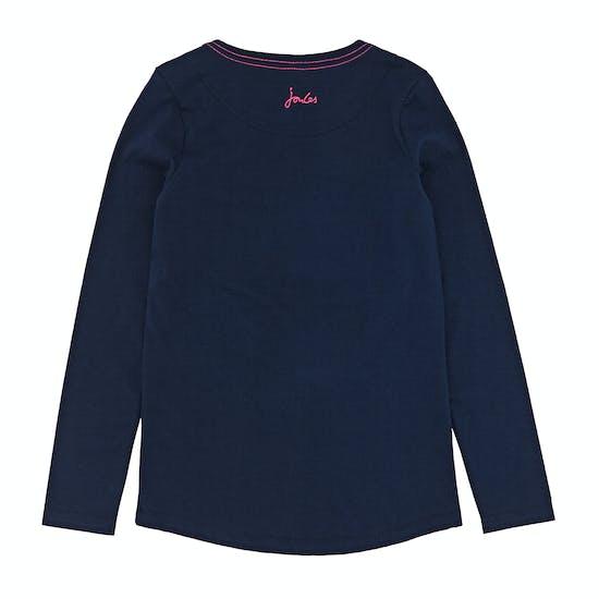 Joules Bessie Graphic Print Girls Long Sleeve T-Shirt