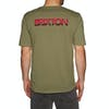Brixton Interceptor II Pocket Short Sleeve T-Shirt - Washed Olive