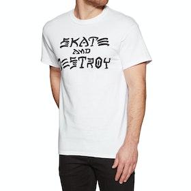 Thrasher Skate & Destroy Short Sleeve T-Shirt - White