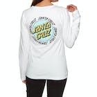 Santa Cruz Ringed Dot Ladies Long Sleeve T-Shirt